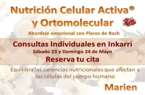 Nutricion Celular Activa en Madrid, 23 y 24 de mayo 2015